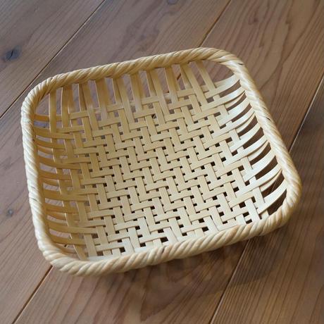 髙見八州洋 竹の盛かご網代編み正方形