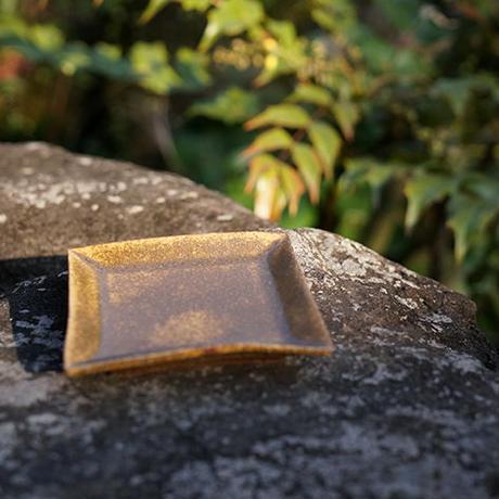 三笘修    黄石釉角豆皿