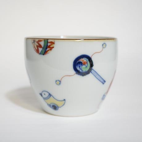 たなかふみえ 染錦玩具文 蕎麦猪口(フリーカップ)