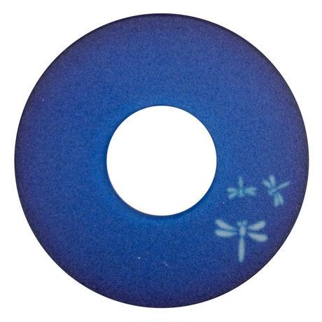 紋様鍔 ワンポイントとんぼ青色