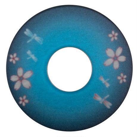 紋様鍔 とんぼさくら 青色