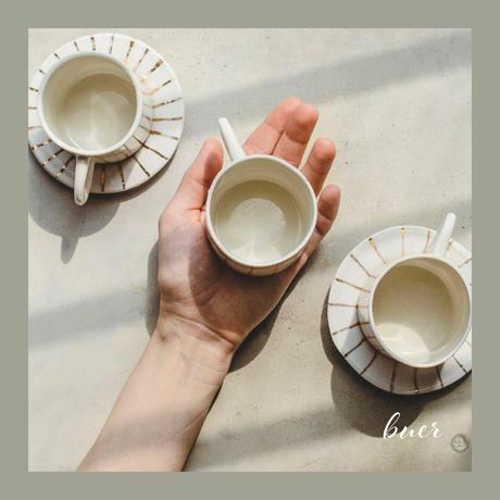 コーヒーカップ ゴールドライン