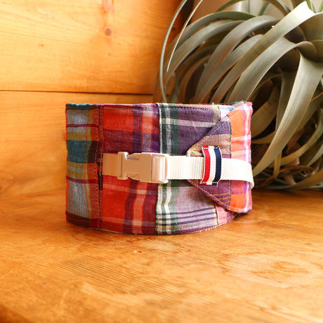 NECK COOLER  PATCHWORK CHECK RED