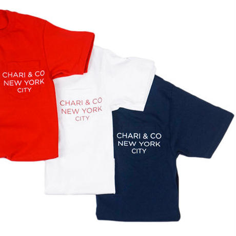CHARI & CO NYC - POCKET TEE TEXT RED