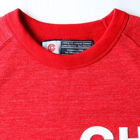 CHARI & CO - CLUSTER LOGO CREW NECK SWEAT SHIRTS RED