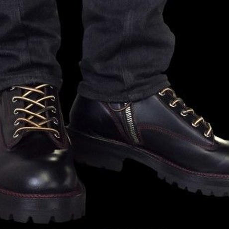 Knife Pocket Work Boots #7inch  BLK/RED