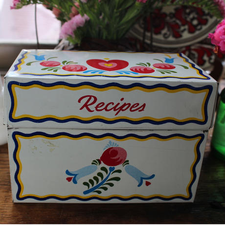 antique recipe box