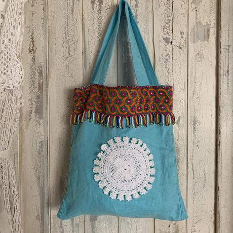 doily&beads fringe bag