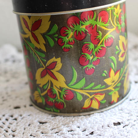 vintage Berry tin box small