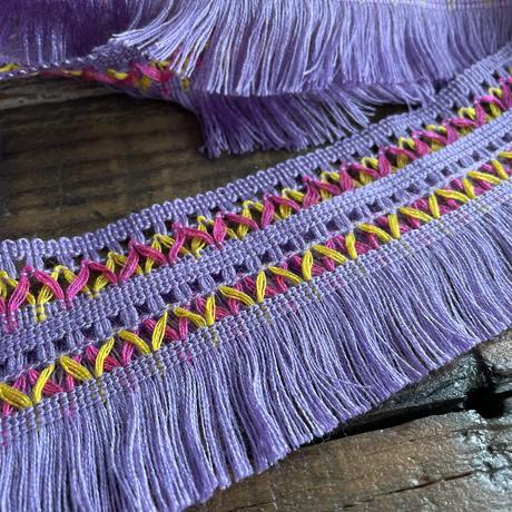 purple chainette fringe trim