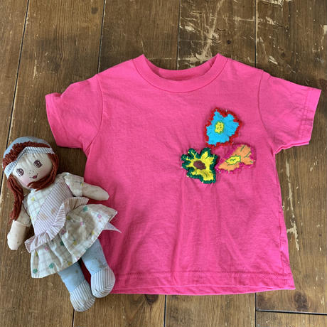 kids remake  T shirt pink