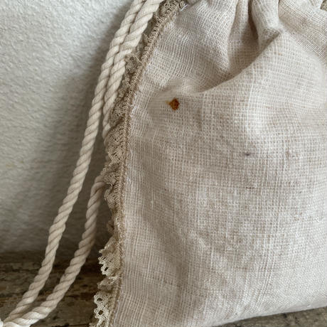 grain sack doily porch