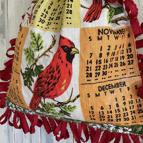 vintage fabric calendar bag 1971