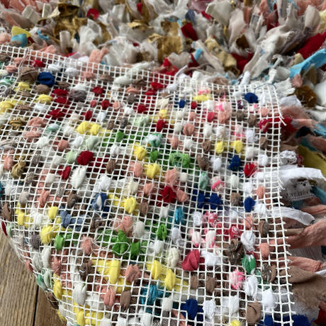 fabric scrap rag mat