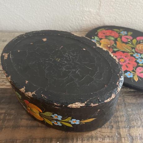 vintage flower wood box