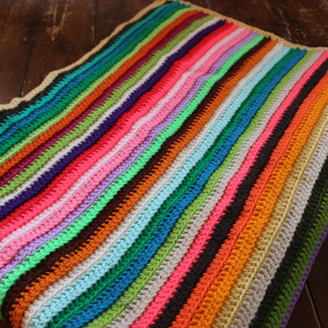 colorful stripe knitrag