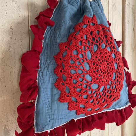 vintage quilt doilies bag