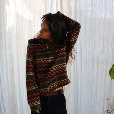 zigzag knit Parker