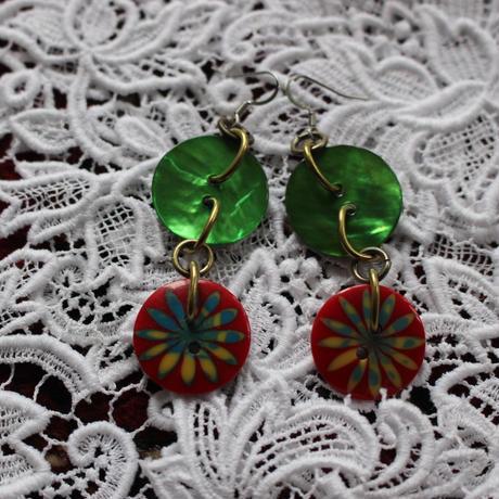 vintage button pierce