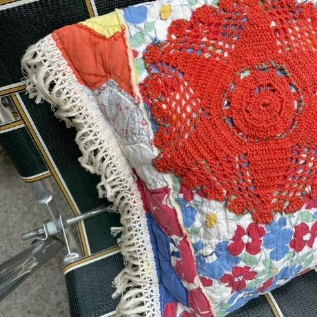 antique quilt remake cushion