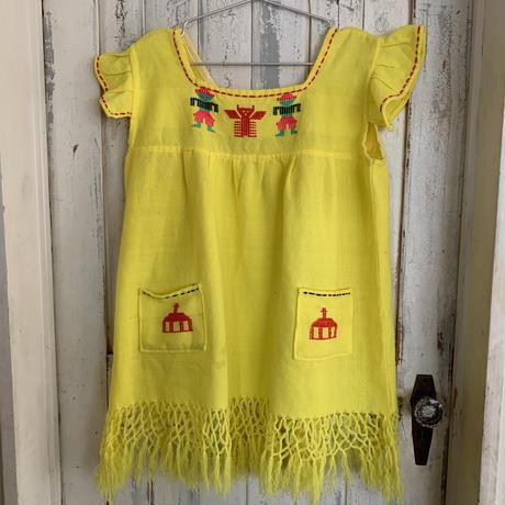 yellow fringe tunic