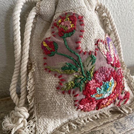grainsack flower embroidery porch