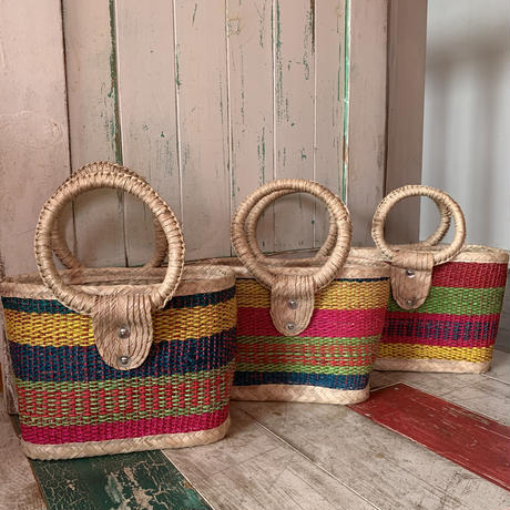 mexico straw basket