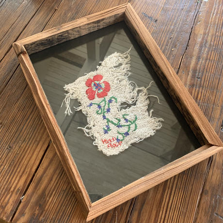 red flower  embroidery