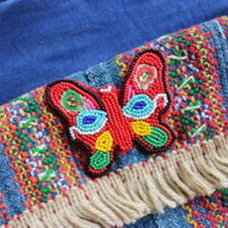 butterfly  embroidery porch