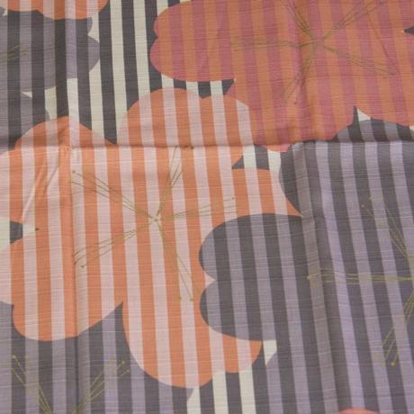 桜柄 紬 木綿風呂敷