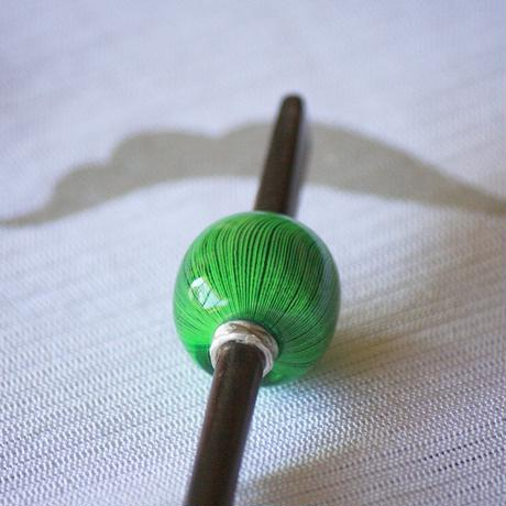 緑玉 万筋 蜻蛉玉簪