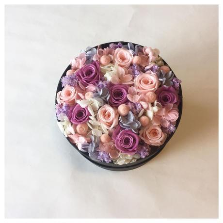 母の日ギフト☆ピンクパープルグラデーションBOXフラワー