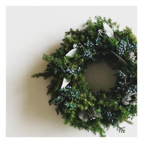【早割!11月30日まで】ヒムロスギのクリスマスリース