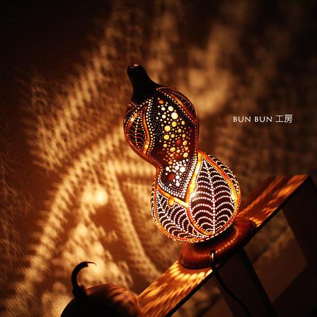 ひょうたんランプ---虫食いLEAFー ー