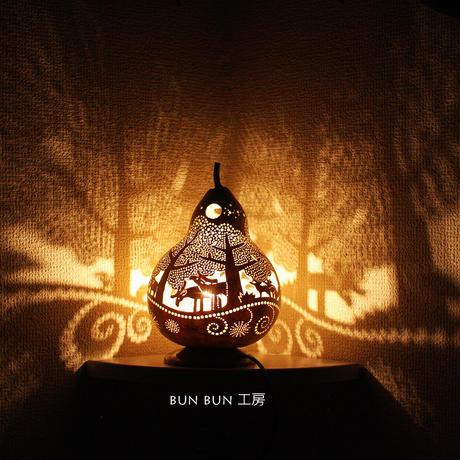 ひょうたんランプ --深夜の森