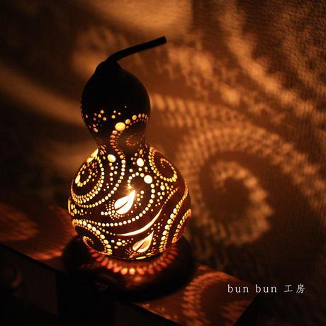ひょうたんランプ--風--