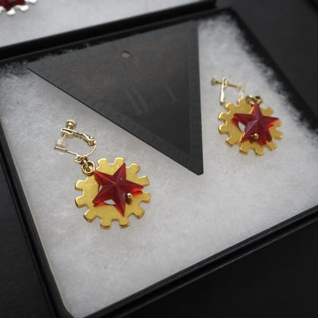 BLACK TRIANGLE DESIGN Earring Gear and Star