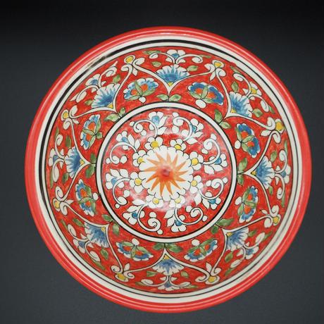 Rishton ceramic Red Bowl Cotton flower