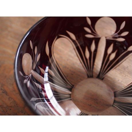 昭和初期 切子ガラス菓子鉢