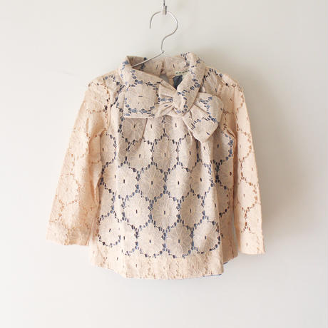 Kids sadie bow top / antique lace