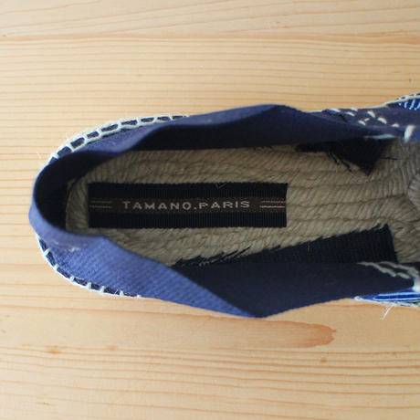 Mama espadrille / african navy