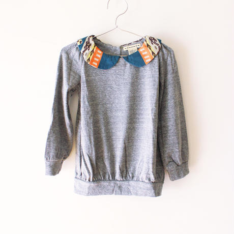 Kids maryjane popover sweat / vintage collar