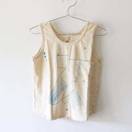 Kids bird tank / chalk white