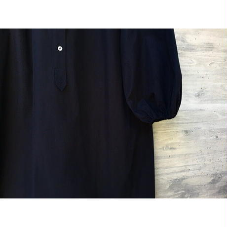 STUDIO NICHOLSON / POWDER COTTON GATHERED  SLEEVE SHIRT DRESS