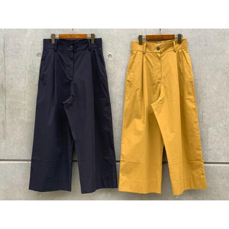 STUDIO NICHOLSON / POWDER COTTON PLEAT FRONT WIDE LEG PANT