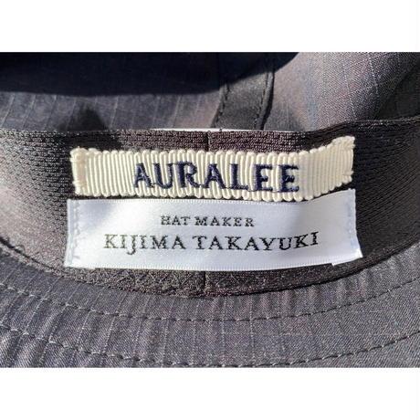 AURALEE / WASHED FINX RIPSTOP CHAMBRAY LONG BRIM HAT MADE BY KIJIMA TAKAYUKI
