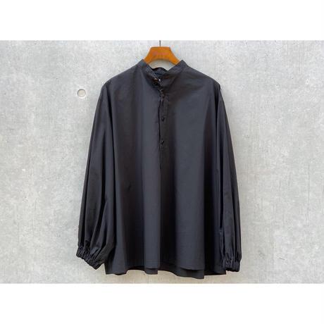 SCYE / Cotton Washed Poplin  Puff  Sleeve P/O Shirt (BLACK)
