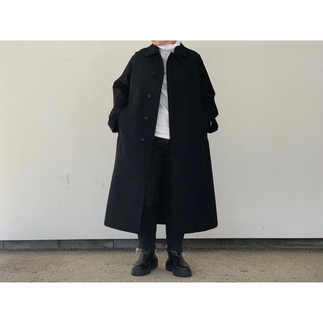 AURALEE / WOOL MAX CANVAS CHAMBRAY SOUTIEN COLLAR COAT