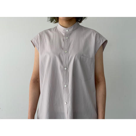 AURALEE / WASHED FINX TWILL SLEEVELESS SHIRT