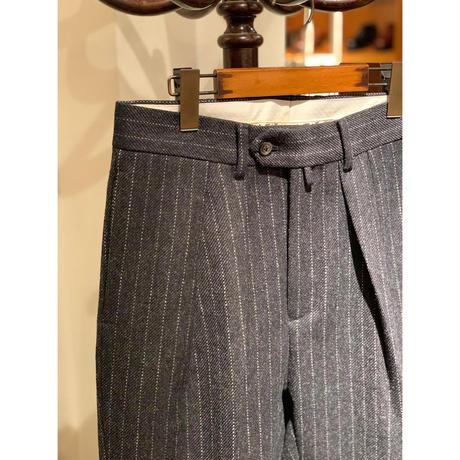 NEAT  / Lovat Tweed Chalk Stripe Wide